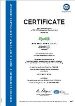 ISO certificate 2012